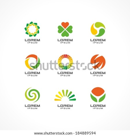 Set Icon Design Elements Abstract Logo Stock Vector (Royalty Free ...