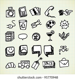 set of icon doodle