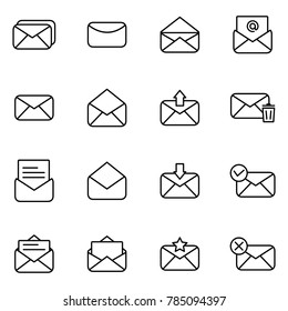 Set of icon for email and message. Simple set of mail related icons collection