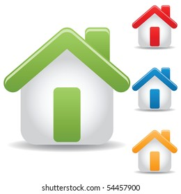 set of icon home, vector illustration