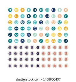 set icon social media and document vector template