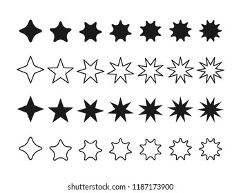 Set icon star, Vector star set Icon Vector , star icon .