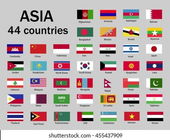 asian countries flags images stock photos vectors shutterstock