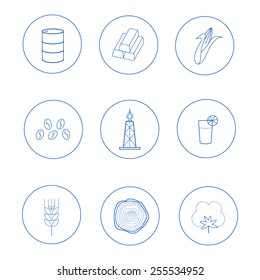 set of icons for business presentation