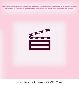 set icons cinematography cinema and movie vector illustration is