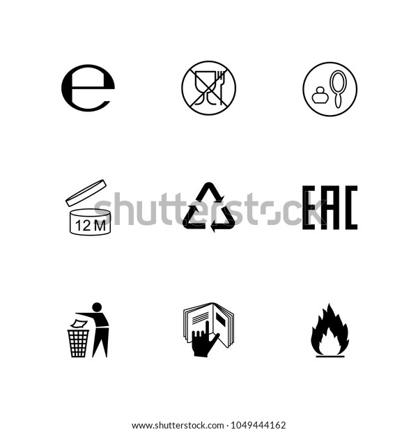 Set Icons Cosmetics Packaging Vector Stock Vector (Royalty