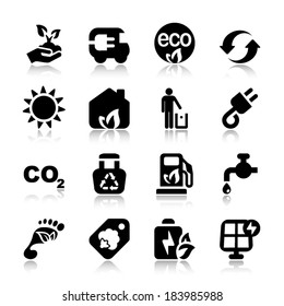 set of icons for ecology and environmental industry
