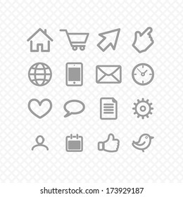 set icons grey. communication. vector eps8