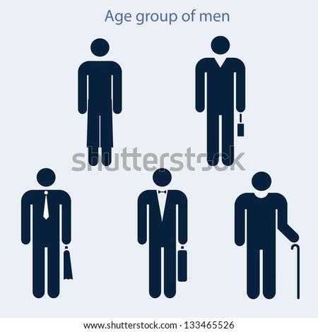 set icons image men different age のベクター画像素材 ロイヤリティ