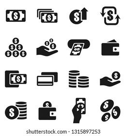 Set of icons on a theme business the finance