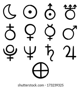 Astrological Symbols Images, Stock Photos & Vectors