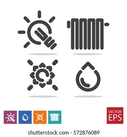 a set of icons for public services vector