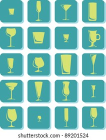 A set of icons representing different types of drinks.