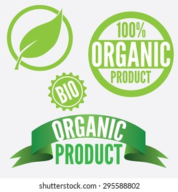 Set Of Icons And Signs For Organic Products