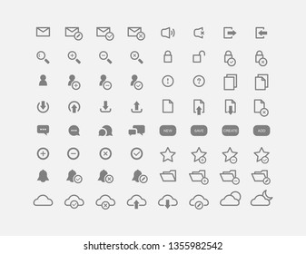 Set of icons for the site