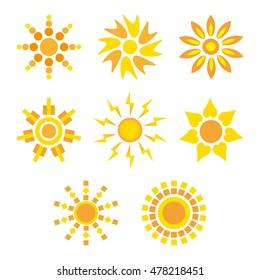 Set icons sun