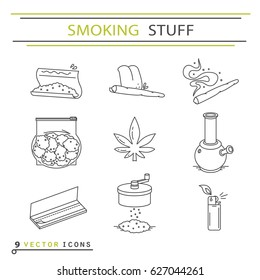 Set of icons in thin line style. EPS 10 Isolated objects