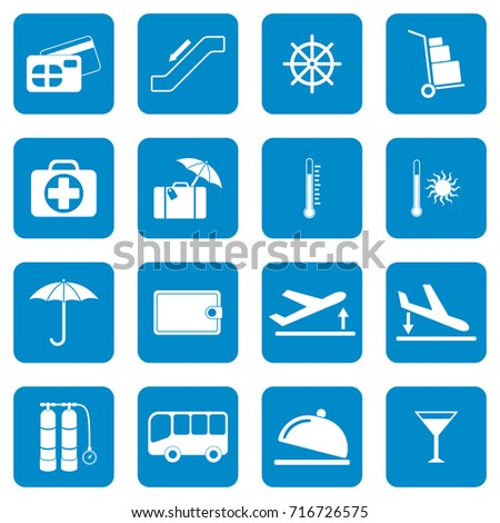 88a1290711 Set Icons Travel Services Vector Illustration Stock Vector (Royalty ...