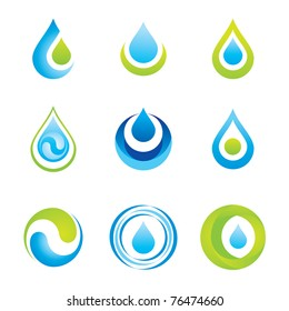 Set of icons/symbols - water and ecology