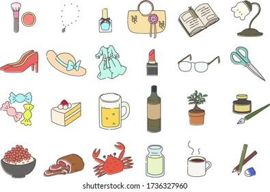 Set illustration of miscellaneous goods - Shutterstock ID 1736327960