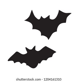 Set of illustrations for halloween. Bats on a white background
