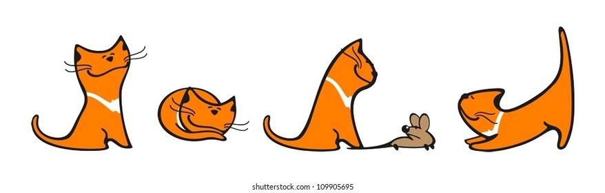 Cat mouse game images stock photos vectors shutterstock set of images of a cat spiritdancerdesigns Gallery