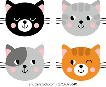 Set of images of cats