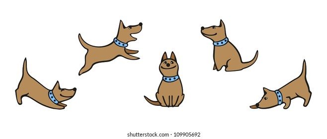 Set of images of a dog