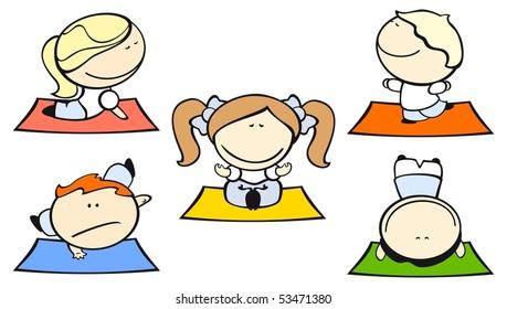 Kids Yoga Clipart Images Stock Photos Vectors Shutterstock