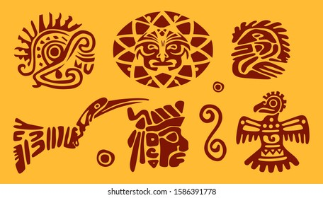 Set of Inca ethnic characters