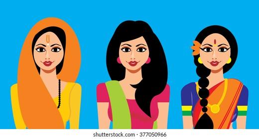 Set of Indian Woman