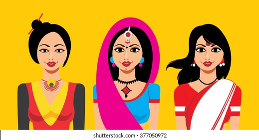 Set of Indian Woman