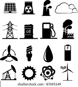 Set of industrial icons