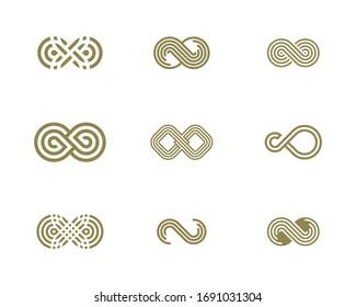 Set of Infinity logo vector template, Creative Infinity logo design concept