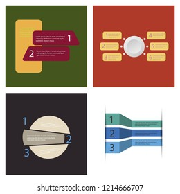Set of Infografics template. for your presentation. EPS 10.