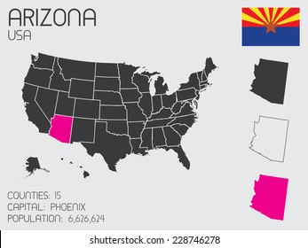 A Set of Infographic Elements for the State of Arizona