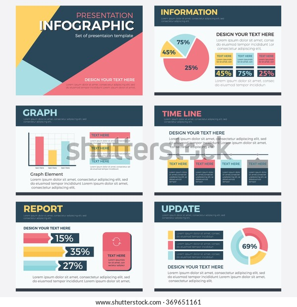 Stock Powerpoint Templates: Set Infographic Presentation Template Powerpoint Business