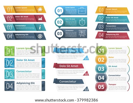 Set infographic templates numbers text business stock vector set of infographic templates with numbers and text business infographics elements set vector eps10 accmission Gallery