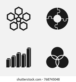 Set of infographic  vector icons.