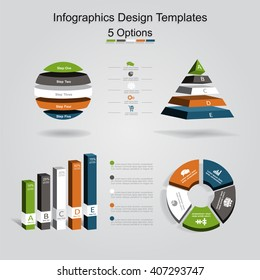 Set of infographics design template with place for your data. Vector illustration.