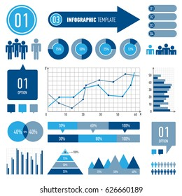 Set of infographics elements. EPS10. Vector.Can be used for workflow layout, diagram, business step options