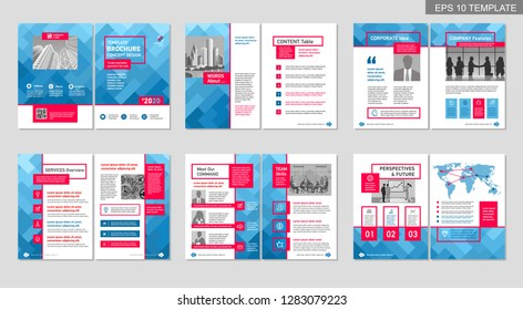 Set of infographics elements. Templates for presentation, publications, web design. Concept with options, parts, steps or processes.
