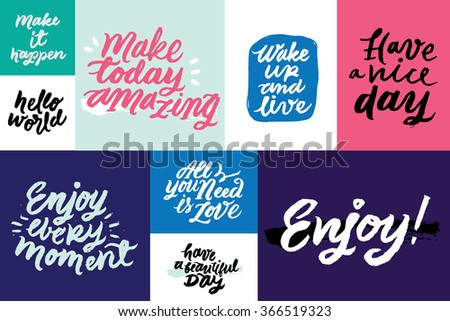 Set Inspirational Motivational Quotes Have Vice Stock Vector