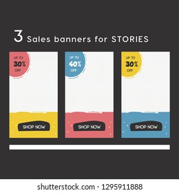 set of Instagram stories sale banner background, instagram template photo, summer sale can use for website, mobile app, poster, flyer, coupon, gift card, smartphone template. Whatsapp layout template