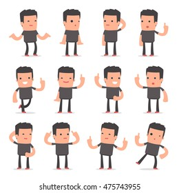 Set of Intelligent and Clever Character Bully visited great idea poses for using in presentations, etc.