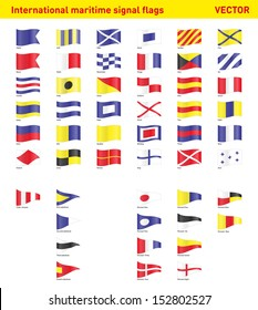 Set of international maritime signal flags