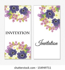 Set of invitations. Vector file has few layers for easy using.