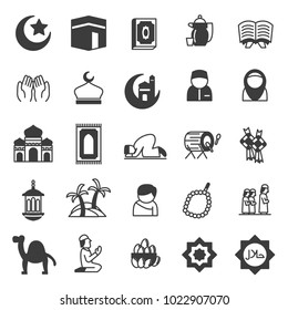 set of islamic icons, use for religion event or website