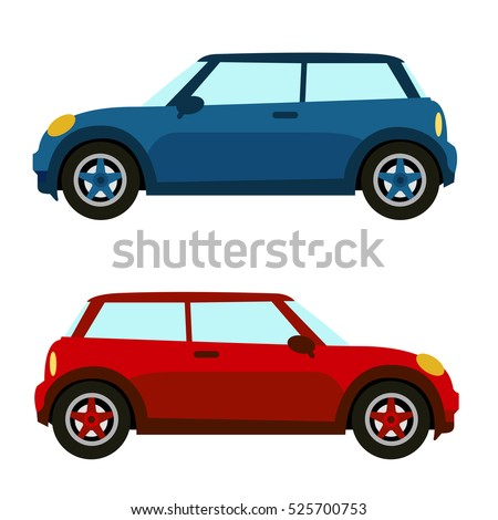 Set of isolated cars