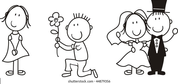 Wedding Clipart Black And White.Funny Wedding Cartoon Images Stock Photos Vectors Shutterstock